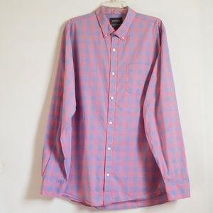 Bonobos Plaid Long Sleeve Shirt XXL Long